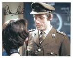 "Richard Franklin ""Captain Yates"" DOCTOR WHO Genuine Signed Autograph 10 x 8 COA 7932"